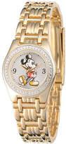 Disney Princess Disney Womens Gold-Tone Metal Alloy Strap Mickey Mouse Bracelet Watch Family