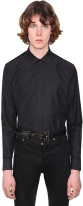 Saint Laurent Tetris Jacquard Cotton Shirt