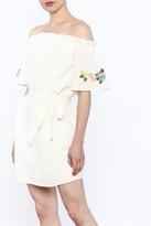 Sage White Off Shoulder Dress