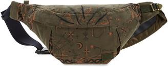 Sacai Dr. Woo Bandana Print Corduroy Belt Bag