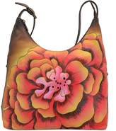 Anuschka Hand-Painted Leather Large Hobo Bag