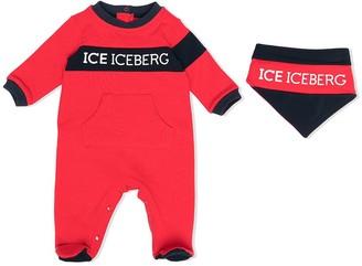 Iceberg Kids Two-Tone Logo-Print Pajamas