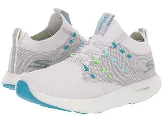 Skechers Go Run 7 (Gray/Blue) Women's Shoes