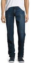 Joe's Jeans The Classic Straight-Leg Stretch-Denim Jeans, Blue
