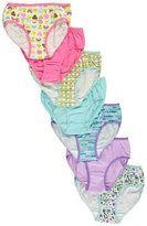 "Rene Rofe Big Girls' ""Hashtag Highlight"" 7-Pack Bikini Underwear - , 10-12"