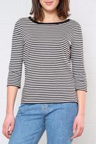 Vero Moda Stripe Three-Quarter Sleeve Top
