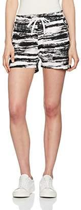 Ichi Women's 20103367 Straight Leg Shorts - Black - UK
