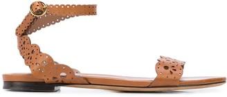 Tabitha Simmons laser-cut lace sandals