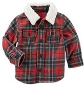 Osh Kosh Baby Boys Plaid Faux Sherpa Jacket