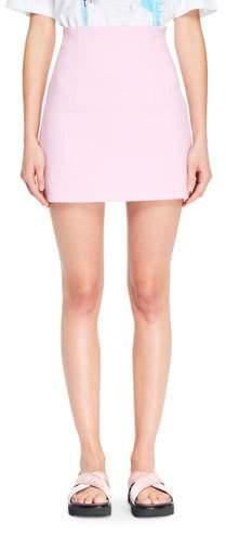 Off-White Straight Mini Skirt