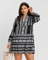 boohoo Plus Aztec Smock Dress