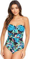 Figleaves Taupo Underwired Bandeau Swimsuit