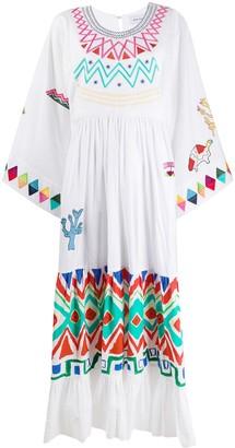 Mira Mikati Geometric Print Kimono Dress
