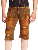 Robin's Jeans Studded Distressed Raw Hem Shorts