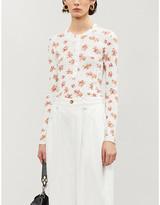 Free People Floral-print jersey top