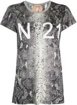 No.21 snakeskin effect T-shirt