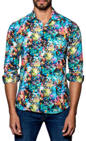 Jared Lang Spread Collared Underwater Print Sportshirt