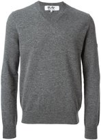 Comme des Garcons mini heart v-neck sweater - men - Wool - S