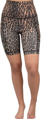 90 Degree By Reflex Animal Print Biker Shorts