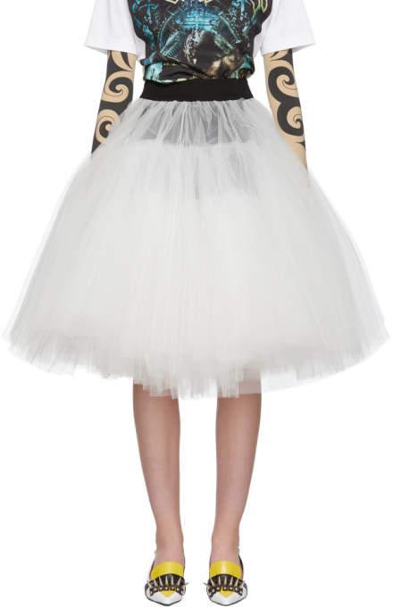 Junya Watanabe Black and White Tulle Skirt