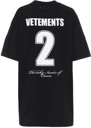 Vetements Oversized printed cotton T-shirt
