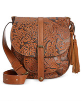 Patricia Nash Burnished Tooled Lace Barcelona Shoulder Bag