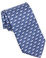Salvatore Ferragamo Men's Dog Print Silk Tie