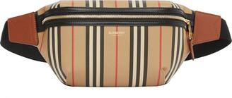 Burberry Medium Sonny Icon Stripe E-Canvas Belt Bag
