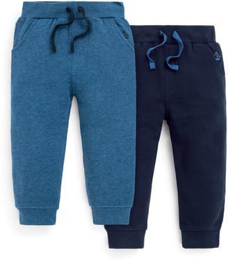 Jo-Jo Jojo Maman Bebe JoJo Maman Bebe Casual Pants Navy - Blue & Navy Drawstring Joggers - Set of Two