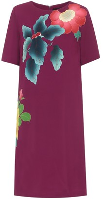Etro Floral cotton-blend crApe dress