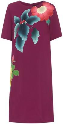 Etro Floral cotton-blend crepe dress
