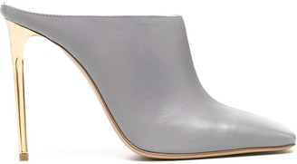 Gia Couture Square-Toe High-Heel Mules