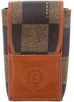 Fendi Logo Leather Phone Holder