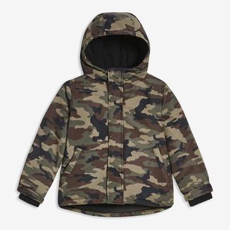 Joe Fresh Kid Boys' Print Jacket with PrimaLoft, Army Green (Size M)