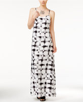 Armani Exchange Printed Sleeveless Maxi Dress