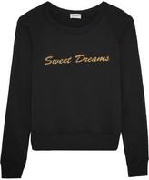 Saint Laurent Metallic-embroidered Cotton-jersey Sweater - Black