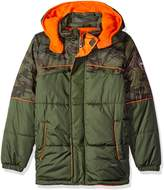 iXtreme Little Boys' Toddler Camo with Grid Cut and Sew Puffer