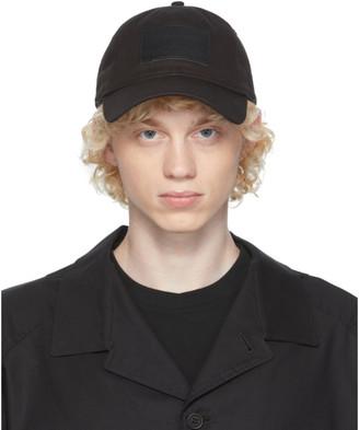 Yohji Yamamoto Black Leather Patch Cap