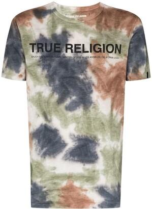 True Religion tie dye logo T-shirt