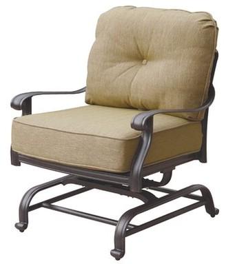 Three Posts Lebanon Deep Seating Club Chair Swivel with Cushions Fabric: Sesame