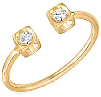 Dinh Van Le Cube 18K Yellow Gold & Diamond Open Ring