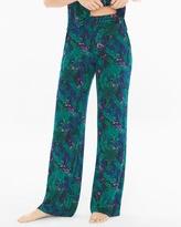 Soma Intimates Pajama Pants Amazon Palm Deep Lake