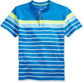 Tommy Hilfiger Little Boys' Henley Striped T-Shirt