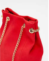 Express chain handle bucket bag