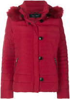 Armani Jeans padded faux fur hooded jacket
