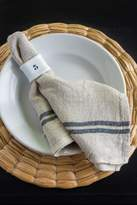 Couleur Nature Natural and White Laundered Linen Napkins Set of 4