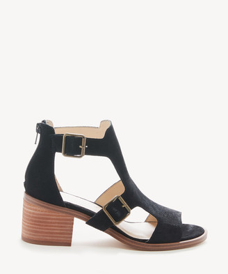 Sole Society Women's Tonni Cutout Sandals Black Size 5 Suede From