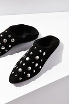 Studded Suede Babouche Flat