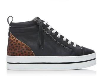 Moda In Pelle Fancian Black - Mini Leopard Leather