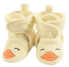 Hudson Baby Cozy Fleece Booties with Non Skid Bottom (Baby Boys or Baby Girls Unisex)